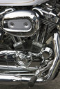 Motorbike chrome Royalty Free Stock Photos