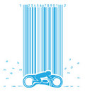 Motorbike In Code Rain Royalty Free Stock Images