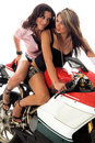 Motorbike Cuties Royalty Free Stock Image