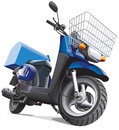 Motorbike for delivery goods Stock Photography