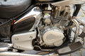 Motorbike engine closeup strong picture Stock Photography