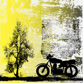 Motorbike Grunge Background Royalty Free Stock Photography