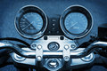 Motorbike motorcycle blue background Royalty Free Stock Photo