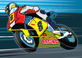 Motorbike racing vector illustration of a Royalty Free Stock Photo