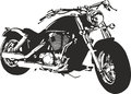 Motorbike vector illustration of an Royalty Free Stock Image