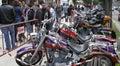 Motorbikes exhibit Royalty Free Stock Photo