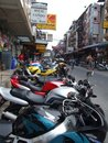 Motorbikes for rent, Thailand. Royalty Free Stock Images