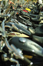 Motorbikes in a row Royalty Free Stock Photo