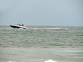Motorboat a running on the sea water Royalty Free Stock Images