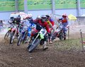 Motorcross in el berron asturias spain july first test of july test for championship of Royalty Free Stock Photography