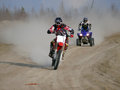 Motorcross race nadim russia may strange to think themselves are driving sports cars on the road Royalty Free Stock Photography