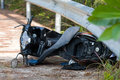 Motorcycle accident Royalty Free Stock Photo