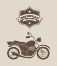 Motorcycle background design over beige vector illustration Stock Photos