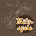Motorcycle background design over brown vector illustration Stock Image