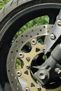 Motorcycle brake Royalty Free Stock Photo