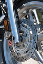 Motorcycle brake Stock Image