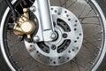 Motorcycle brake disc Royalty Free Stock Photo