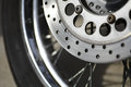 Motorcycle brake disc Royalty Free Stock Photo