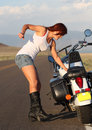 Motorcycle Breakdown Royalty Free Stock Images