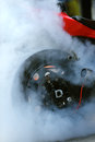 Motorcycle burnout Royalty Free Stock Photo