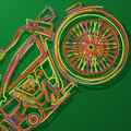 Motorcycle card stylized abstract art Royalty Free Stock Photography