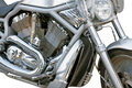 Motorcycle chrome metal grille the Royalty Free Stock Images