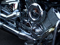 Motorcycle chrome parts central part Stock Images