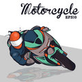 Motorcycle the cool vector illustration Royalty Free Stock Images