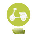 Motorcycle delivery service transport pictogram