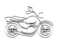 Motorcycle design over white background vector illustration Stock Photography