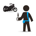 Motorcycle design transportation icon isolated illustration concept with vector eps graphic Royalty Free Stock Photo
