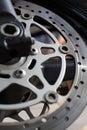 Motorcycle disc brakes Royalty Free Stock Photo