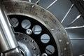 Motorcycle disk brake Royalty Free Stock Photo