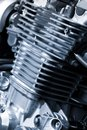 Motorcycle engine Stock Image