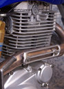 Motorcycle engine Royalty Free Stock Photo