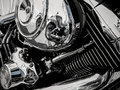 Motorcycle engine as background Royalty Free Stock Photo