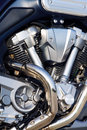 Motorcycle engine close-up Royalty Free Stock Photo