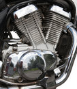 Motorcycle engine close-up Royalty Free Stock Photos