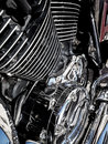 Motorcycle engine close-up as background Royalty Free Stock Photo
