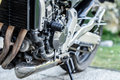 Motorcycle engine close-up detail background Royalty Free Stock Photo