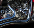 Motorcycle engine detail Royalty Free Stock Photo