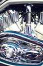 Motorcycle engine details Stock Image
