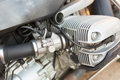 Motorcycle engine internal combustion close up Royalty Free Stock Photo