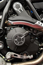 Motorcycle engine motor Royalty Free Stock Photo