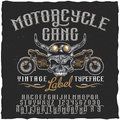 Motorcycle Gang Label Typeface Poster