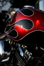 Motorcycle Gas Tank Stock Image