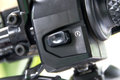 Motorcycle handlebar controls close up Stock Photography