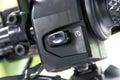 Motorcycle handlebar controls Royalty Free Stock Photo