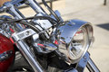 Motorcycle Headlight Stock Images