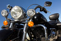 Motorcycle Headlights Royalty Free Stock Images